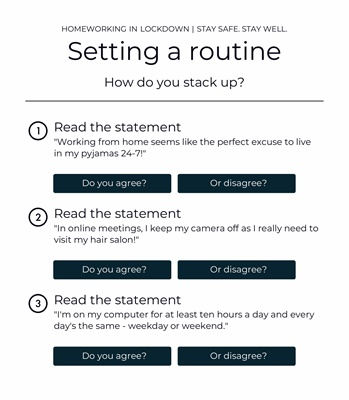 Setting a routine 2