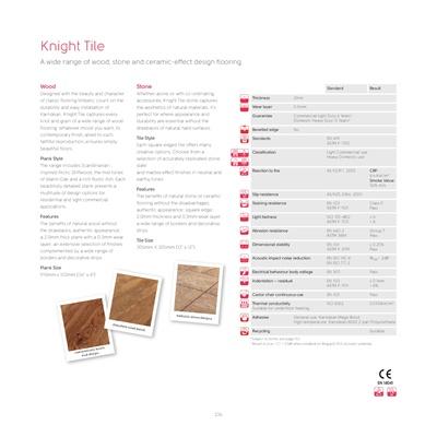 Knight Tile Vinyl Flooring Range - Karndean Australia