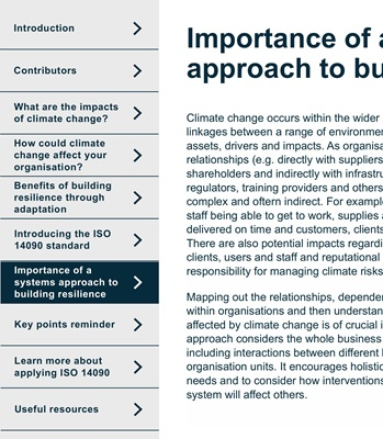 Systems Approach to Building Climate Resilience | JBA Consulting