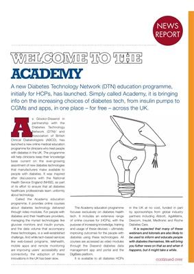 Desang diabetes magazine, diabetes news, Glooko Diasend Academy