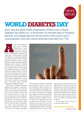 Desang diabetes magazine diabetes news, World Diabetes Day