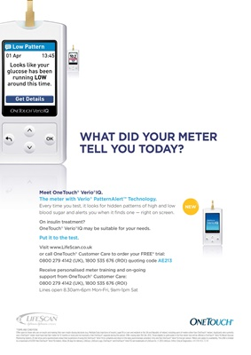 OneTouch Verio iQ blood test meter