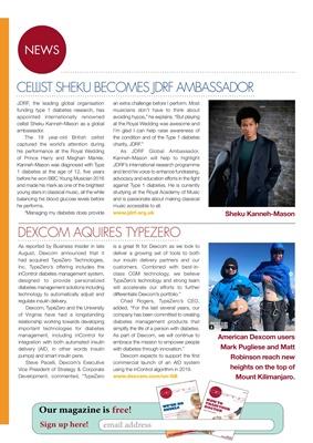 Dexcom buys Type Zero, JDRF UK, cellist Sheku Kanneh-Mason