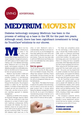 Medtrum Touchcare diabetes technology