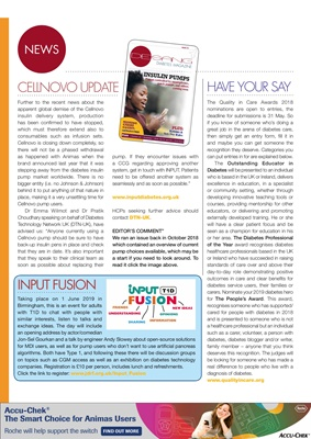 Desang diabetes magazine diabetes news, Input Fusion