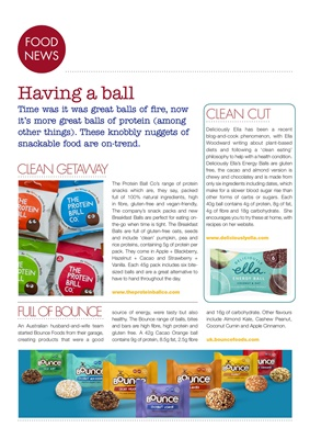 diabetes food news, protein balls, Deliciously Ella, Bounce Foods, The Protein Ball company, diabete