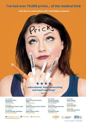 Actress Jade Byrne, Pricks the play, Type 1 diabetes