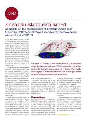 JDRF stem cell encapsulation
