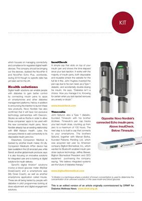 Connected insulin pens, Novo Nordisk, Timesulin, Big Foot Biomedical, InsulCheck