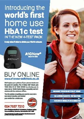 HbA1c home test, A1C now, BHR Pharmaceuticals Ltd, home use A1C test, home use HbA1c test