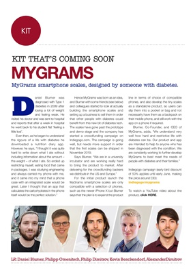 Kit that's coming soon MyGrams smartphone scales