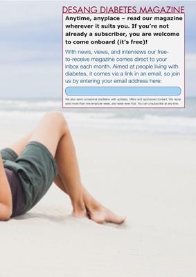 Desang Diabetes Magazine, free diabetes magazine