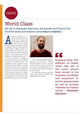 About a diabetic, Alexander Edenwind