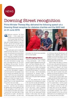 Desang diabetes magazine, diabetes news, Teresa May