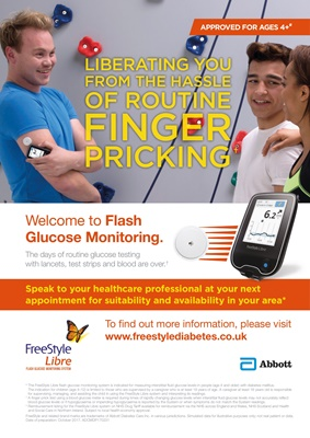 Abbott Freestyle Libre, Flash Glucose Monitoring, blood testing without lancets