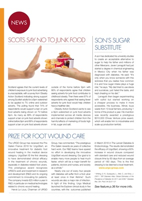 Desang diabetes magazine, diabetes news, Urgo Start footcare