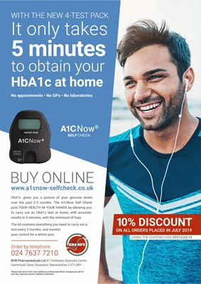 HbA1c home test, A1C now