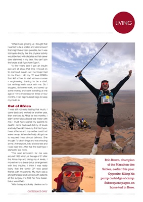 My Diabetes Kit, Rob Brown, Diabetic Dad Runs, Marathon des Sables,