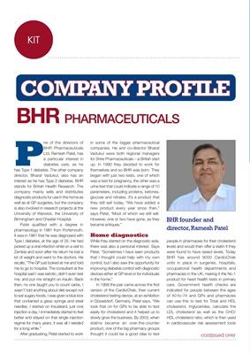 BHR Pharmaceuticals Ramesh Patel, AC1 Now, Type 1 diabetes