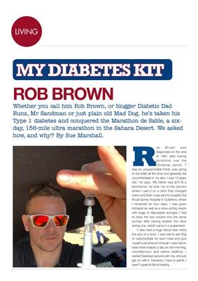 My Diabetes Kit, Rob Brown, Diabetic Dad Runs, Marathon des Sables