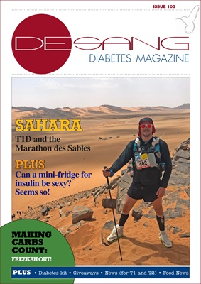 Desang diabetes magazine, diabetes information, Sue Marshall