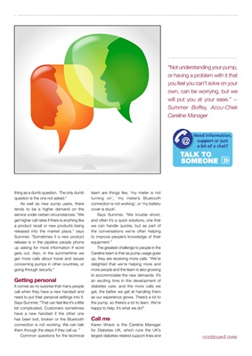 Diabetes UK Careline article