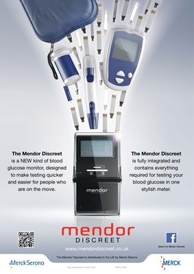 mendor discreet blood test meter