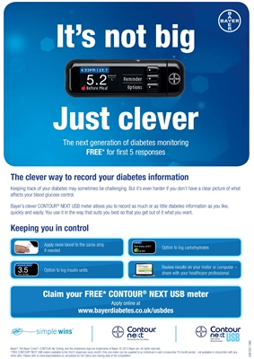 Bayer Contour Next USB blood test meter