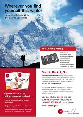 Desang diabetes kitbag