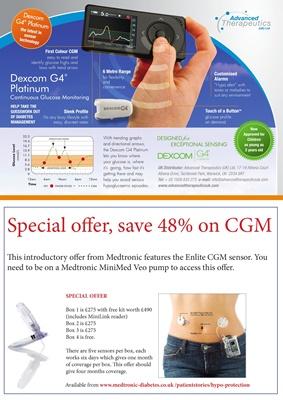 Medtronic Enlite CGM sensor special offer