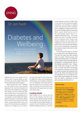 Dr Jen Nash diabetes and wellbeing