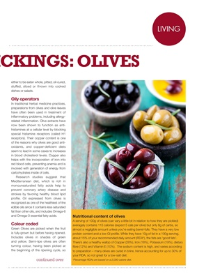 Carb content of olives