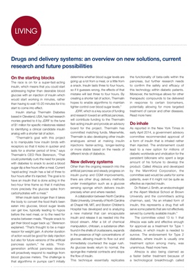 Article on diabetes research