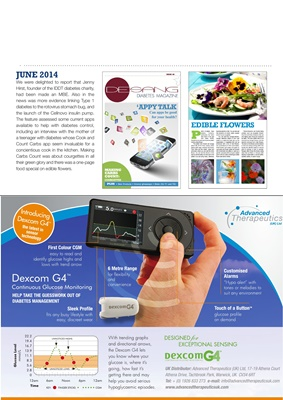 Desang magazine features on living with diabetes