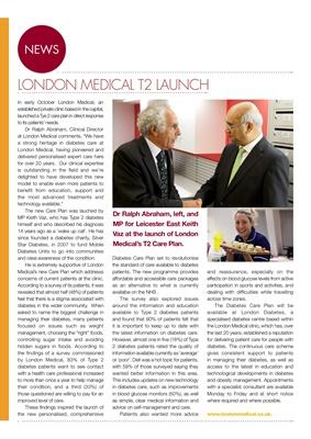 Desang diabetes magazine diabetes news London Medical T2 care plan