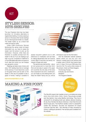 Diabetes blood test meter Freestyle Libre sensor