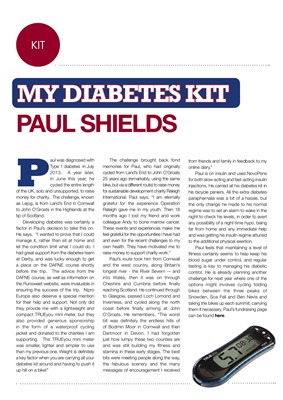 My diabetes kit Paul Shields