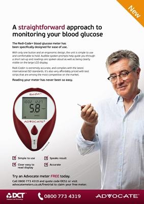 Advocate blood test meter featuring Redi-Code