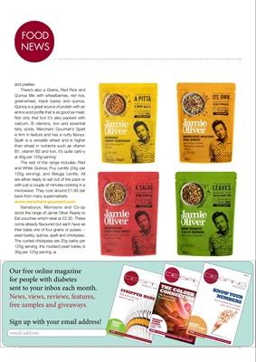 diabetic diet, Jamie Oliver, Merchant Gourmet