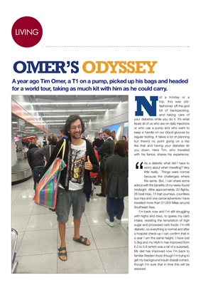 Tim Omer travels with Type 1 diabetes