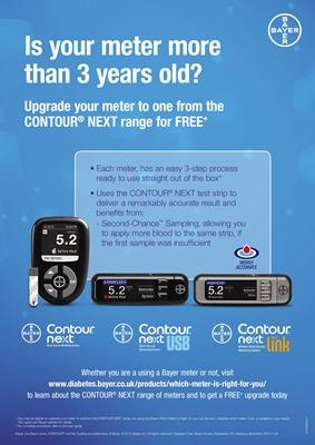 Bayer Contour Next Link 2.4 USB blood test meter for Medtronic insulin pump