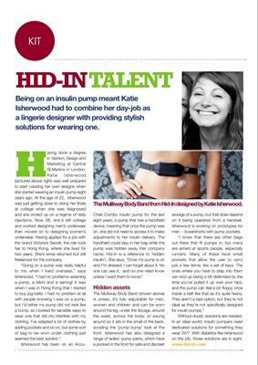 Diabetes Kit insulin Pump Belt Katie Isherwood Desang