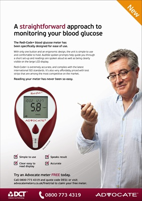 Advocate blood test meter featuring Redi-Code