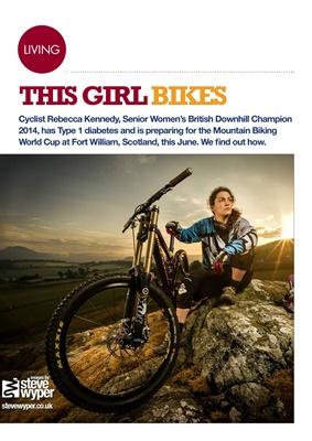 Rebecca Kennedy type 1 diabetes british downhill cycling champion