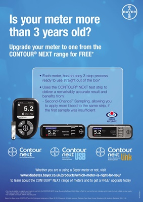 Bayer Contour blood test meter range