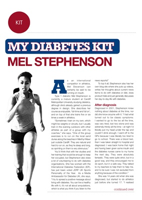 My diabetes kit Mel Stephenson