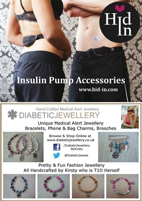 Insulin Pump Holder and Diabetic Jewellery