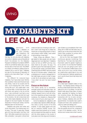 my diabetes kit Lee Calladine