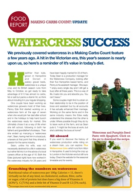 Nutritional value of watercress