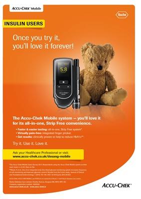 Accu-Chek Mobile blood test meter